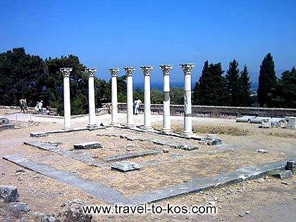 The temple of Apollon at Asklepion