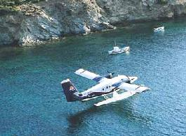 The new seaplane airport opened in Lavrio