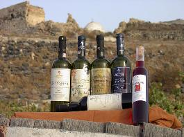 The first wine exhibition in Santorini