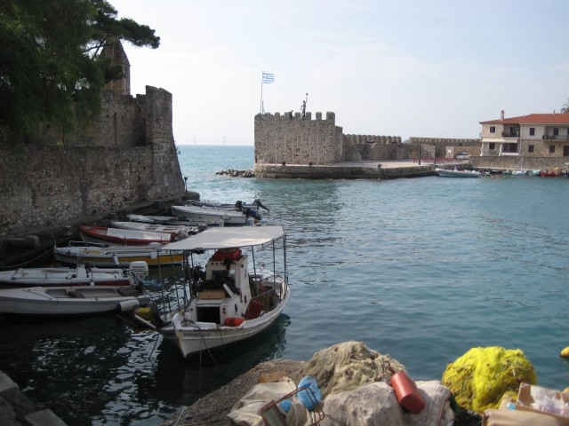 The harbour of Nafpaktos