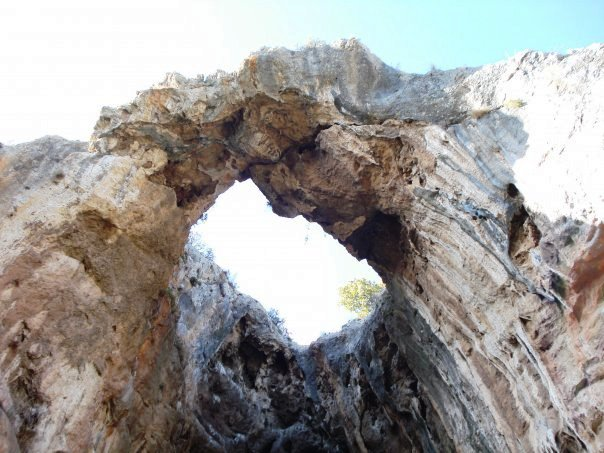 cave wth wreath at Ayios Thomas