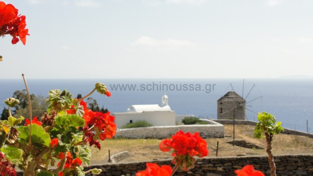 View from the village | Schinoussa