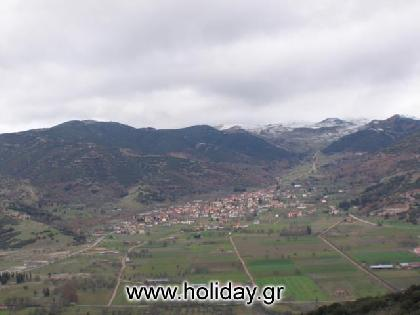 Panoramic view of Kalavrita village