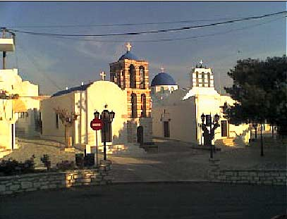 Kostos square and churches-winter