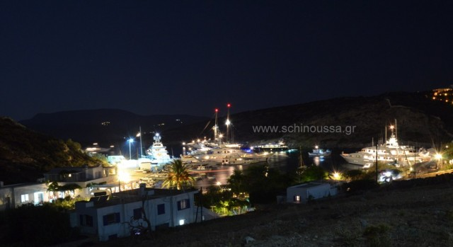 Mersini port at night | Schinoussa